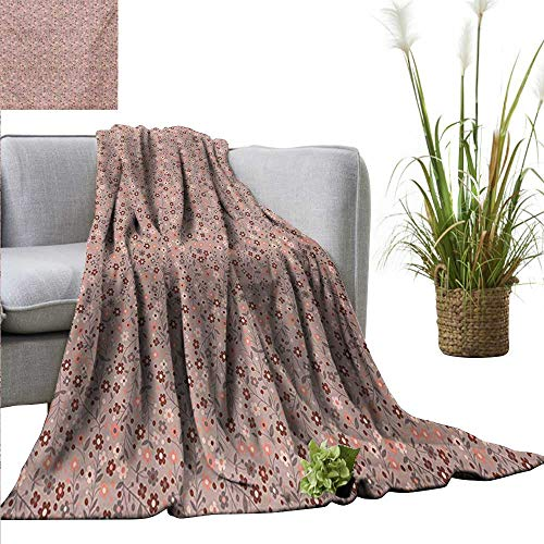 Swaddle Blanket Floral,Spring Petal Swirled Branch Blossom Nature Beauty Essence Vibrant Image,Mauve Salmon Dried Rose Lightweight Extra Soft Skin Fabric Not Allergic 50