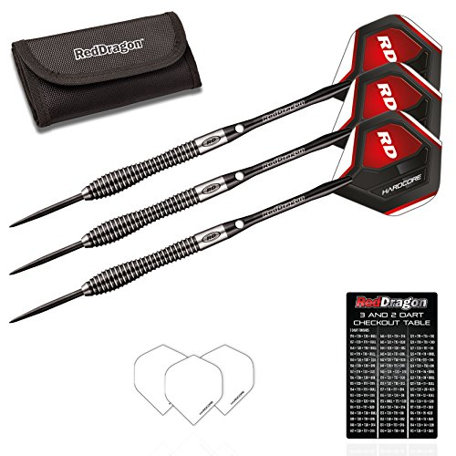 Red Dragon Lethal Magic 1: 25g - 85% Tungsten Steel Darts with Flights, Shafts, Wallet & Red Dragon Checkout Card