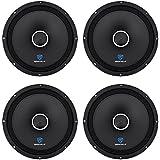 (4) Rockville RXM108 10 2400w 8-Ohm SPL Car Midrange Mid-Bass Speakers w/Bullet