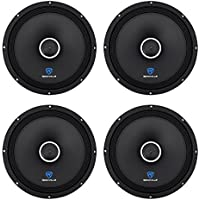 (4) Rockville RXM108 10 2400w 8-Ohm SPL Car Midrange Mid-Bass Speakers w/Bullet