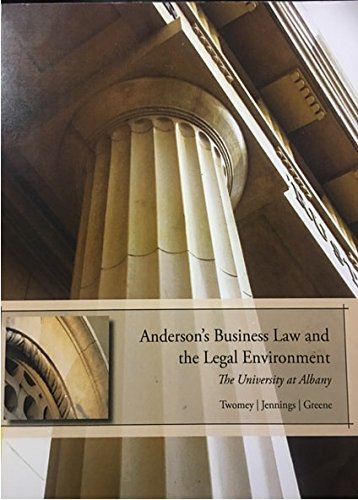 ACP ANDERSONS BUSINESS LAW & LEGAL ENVIRONMENT