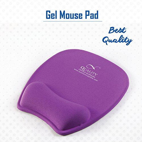 New Quality Gel Mouse Pad Wrist Support (Purple) ...