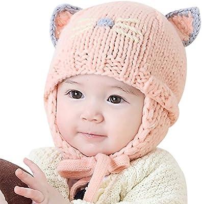 Amazon.com  Newborn Cute Cartoon Winter Warm Hat f170038af542