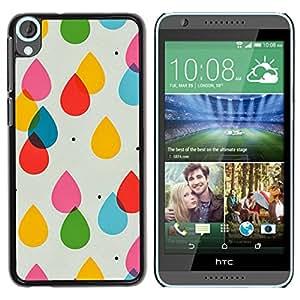 Paccase / SLIM PC / Aliminium Casa Carcasa Funda Case Cover para - Raindrops Kids Colors Pastel Polka Dot - HTC Desire 820