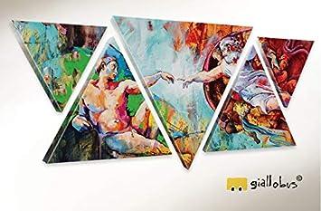 GIALLO BUS   Bild Multipanel Dreieckige DIE SCHAFFUNG VON Adamo   Moderne  Leinwandbilder Für Wohndesign Möbel