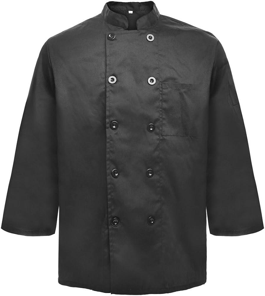 TOPTIE Unisex Long Sleeve Button Chef Coat