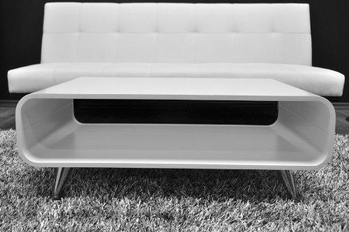 Lounge Couchtisch Retro 90x60cm Weiss