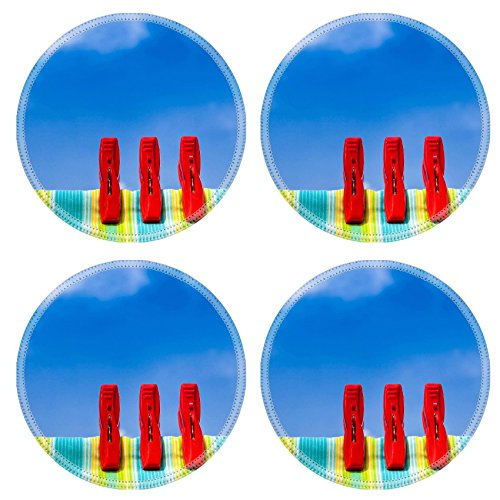 MSD Natural Rubber Round Coasters IMAGE ID 32083370 Three