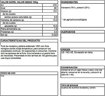 Puré de manzana y plátano BIO - La Finestra sul cielo - 200 gr ...