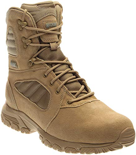 (Magnum Men's Response III 8.0 Side-Zip Slip Resistant Work Boot,Desert Tan,11.5 M US)