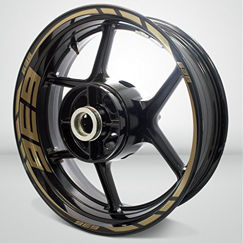 Gold Motorcycle Wheels - 6
