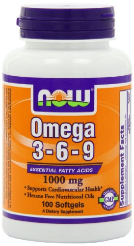 NOW Omega 3 6 9 1000mg Softgels product image
