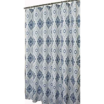 Extra Long Shower Curtain 78 Inch Fabric CurtainLiner Set With