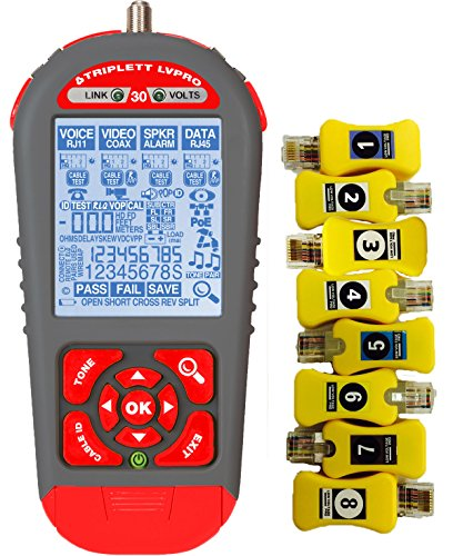 Triplett LVRPO30SR Upgradeable Cable Tester with 12 Teste...