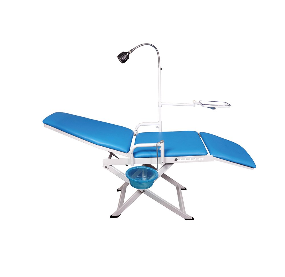 Pevor Dental Portable Mobile Chair with LED Cold Light Full Folding Chairs