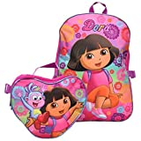 Nickelodeon Dora the Explorer Heart Backpack and Lunch Bag Set