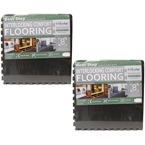 Best Step Interlocking Comfort Flooring. (2) 8 Packs plus Borders (2' x 2' x 3/8