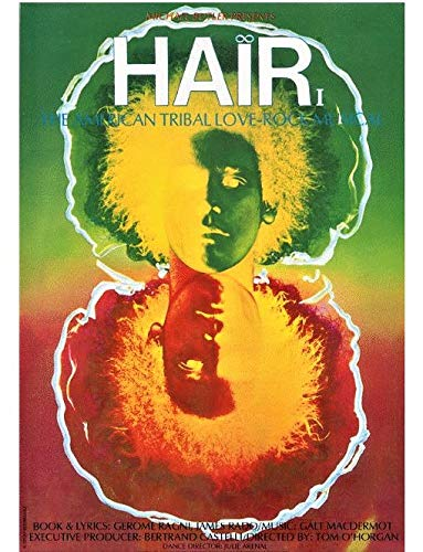Amazon com: Hair The Musical Offset Print 60's Art on Extra