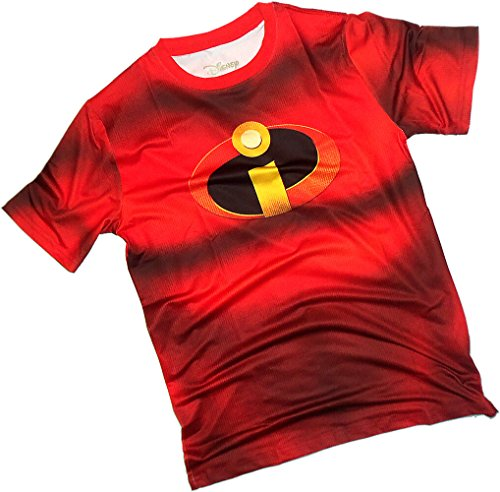 [Costume -- Mr. Incredible All-Over Front/Back Print Sports Fabric T-Shirt, Large] (Dash Incredibles Costumes)