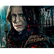 Harry Potter and the Deathly Hallows û Part 2 Alan Rickman Autographed 11x14 Poster Preprint Photo