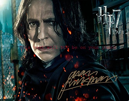 Harry Potter and the Deathly Hallows û Part 2 Alan Rickman Autographed 11x14 Poster Preprint Photo from Celebrity Graphs