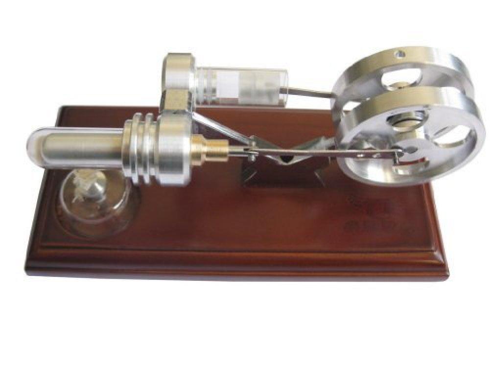 E-3LUE SL01 Heißluft-Stirlingmotor-Modell mit zwei Schwungrädern