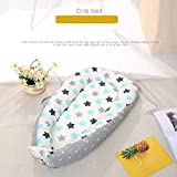 Baby Lounger and Baby Nest Sharing Co Sleeping Baby Bassinet - 100% Soft Cotton Cosleeping Baby Bed Breathable Newborn Infant Bassinet, Newborn Cocoon Snuggle Bed