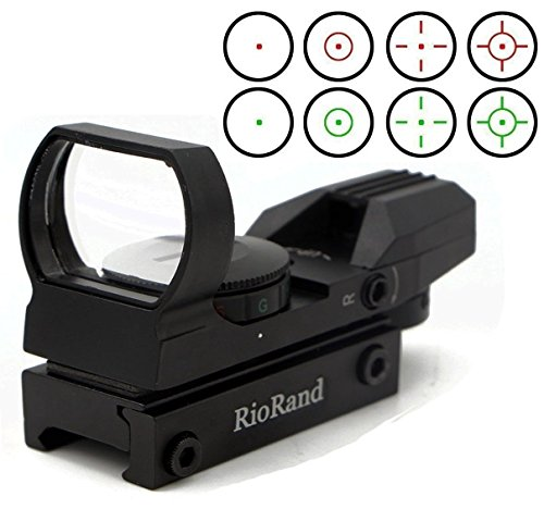 RioRand Red and Green Reflex Sight with 4 Reticles