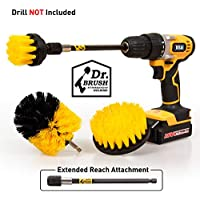 4-Pks. Drill Brush Power Scrubber Cleaning Brush (Yellow)