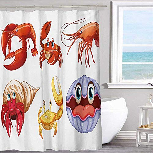 MKOK Bathroom Fabric Shower Curtain 60