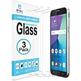 [3-PACK] Samsung Galaxy J7 V Screen Protector, MP-MALL [Tempered Glass] with Lifetime Replacement Warranty
