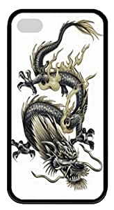 Best Apple iPhone 4/4S Cases & Protectors Tribal Dragon Tattoo iPhone 4 & 4S TPU Rubber and Silicone Cases and Covers - Black