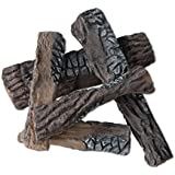 Fireplace Gas Logs Garden Fire Pit Ceramic Logs Wood Replacement, Factory Retail Price
