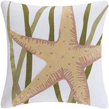 Starfish and Sea Grass Decorator Pillow