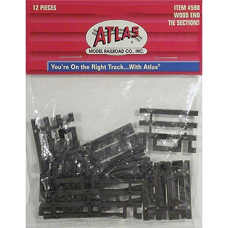 HO Code 83 Flex-Track End Ties (6) (83 Track Ho Flex Code)