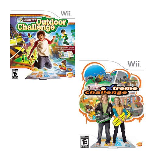 Active Life Value Pack Bundle with Outdoor Challenge and Extreme Challenge Games and Mat by Namco