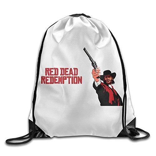 DEMOO Red Dead Redemption LOGO Drawstring Backpack / Sack Bag