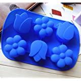 Large Tulip flower Ice Cube Chocolate Soap Tray Mold Silicone Party maker (Ships From USA)