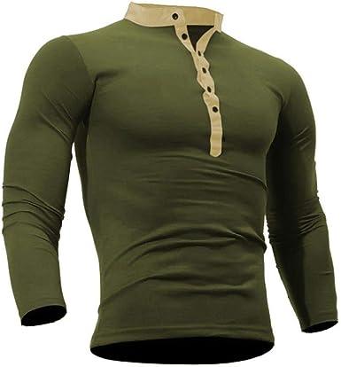 Camisetas De Manga Larga De para Hombre, Camiseta Algodón Modernas Casual De Otoño para Hombre para Hombre Camiseta De para Hombre Camiseta De Manga Larga Básica Camiseta De Manga Larga Básica: Amazon.es: