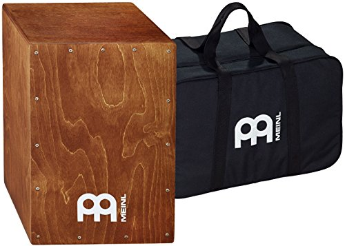 - Meinl Percussion Cajon Box Drum with Internal Snares and Free Bag - MADE IN EUROPE - Baltic Birch Wood Full Size, 2-YEAR WARRANTY, BC1BR)