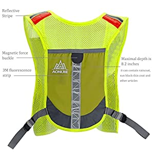 Premium Reflective Vest Give Sport Water Bottle as Gift for Running Cycling Clothes for Women Men Safety Gear with Pocket 3M Scotchlite with Reflective High Visibility for (Green)
