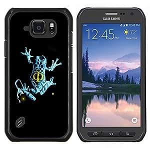"""For Samsung Galaxy S6 active / SM-G890 , S-type Azul de la franja de la rana"""" - Arte & diseño plástico duro Fundas Cover Cubre Hard Case Cover"""