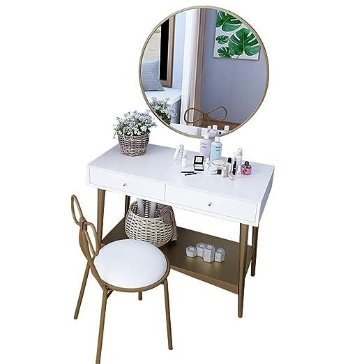 Tyueliang-Home Mesa de Maquillaje Dormitorio Dresser Dos cajones ...