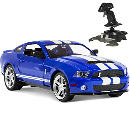 Free BCP 1/14 RC Ford Mustang Shelby GT500 Gravity Sensor Remote Control Car Blue