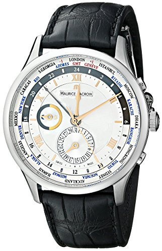 Maurice Lacroix Men's MP6008-SS001-110 Masterpiece Tradition Analog Display Swiss Automatic Black Watch