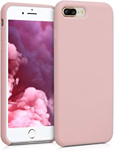 kwmobile TPU Silicone Case Compatible with Apple iPhone 7 Plus / 8 Plus - Soft Flexible Rubber Protective Cover - Peach Skin