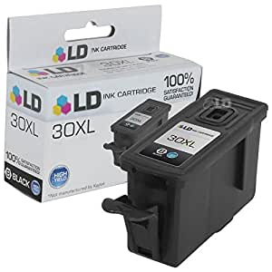 LD © Compatible Replacement for Kodak 1550532 (#30XL) High Yield Black Inkjet Cartridge for use in Kodak ESP C110, C310, C315, Office 2150, Office 2170, 3.2, Hero 3.1, 4.2, and 5.1 Printers