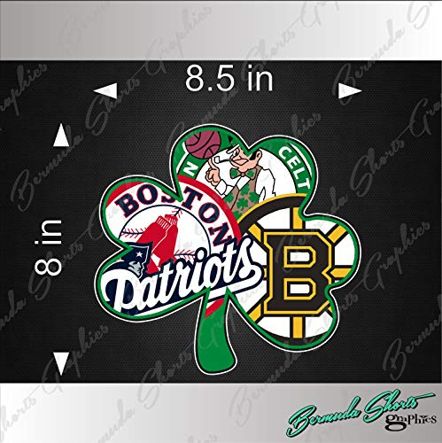- Bermuda Shorts Graphics Boston Sports Fan New Shamrock Logo/Single / 8