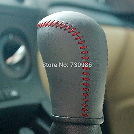 Black Genuine Leather Gear Shift Knob Cover for 2007 2008 2009 2010 2011  2012 2013 Mazda Mazda 3 / 2006 2007 2008 2009 2010 2012 2013 Mazda Mazda 5  /