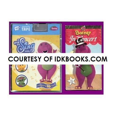 SINGING BARNEY 2-PACK: Audio Cassette - I Love To Sing With Barney *PLUS FREE GIFT: VHS Barney In Concert **SHIPS SAME DAY WITH FREE - Day Number Same Tracking